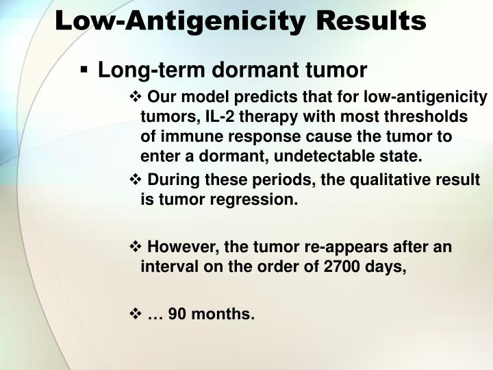 Low-Antigenicity Results