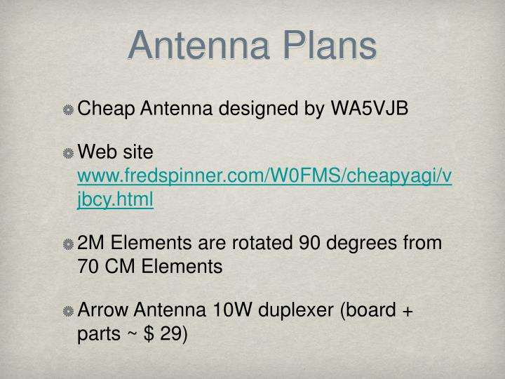 Antenna Plans