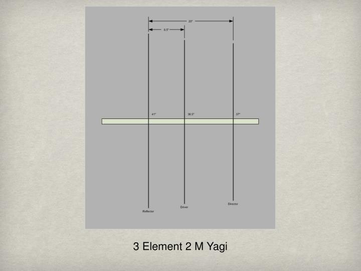 3 Element 2 M Yagi
