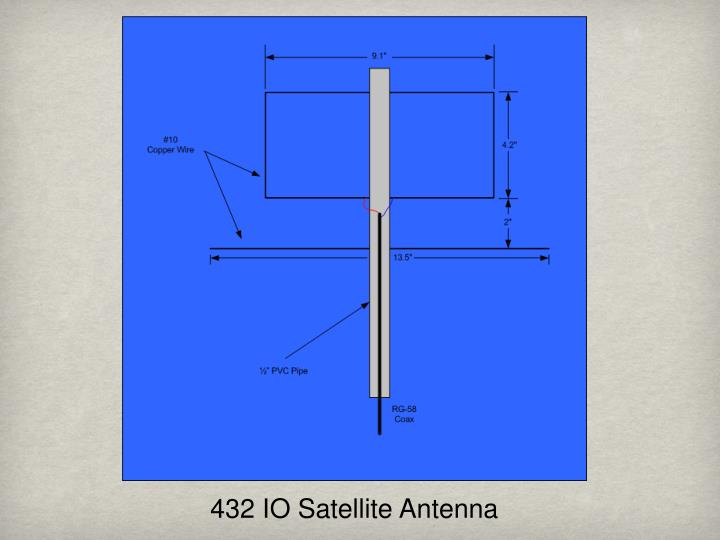 432 IO Satellite Antenna