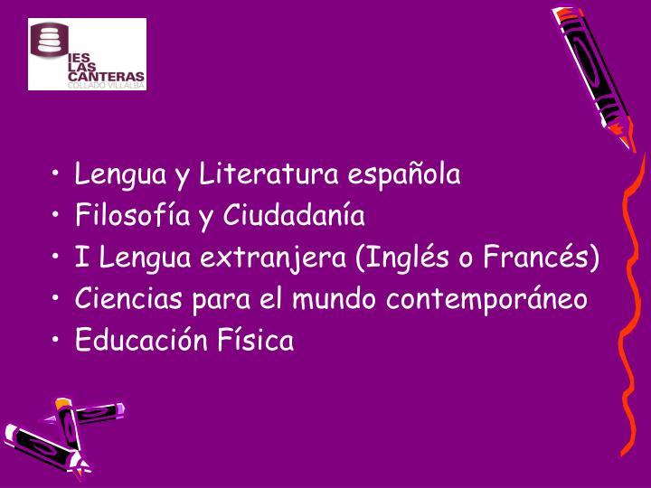 Lengua y Literatura española