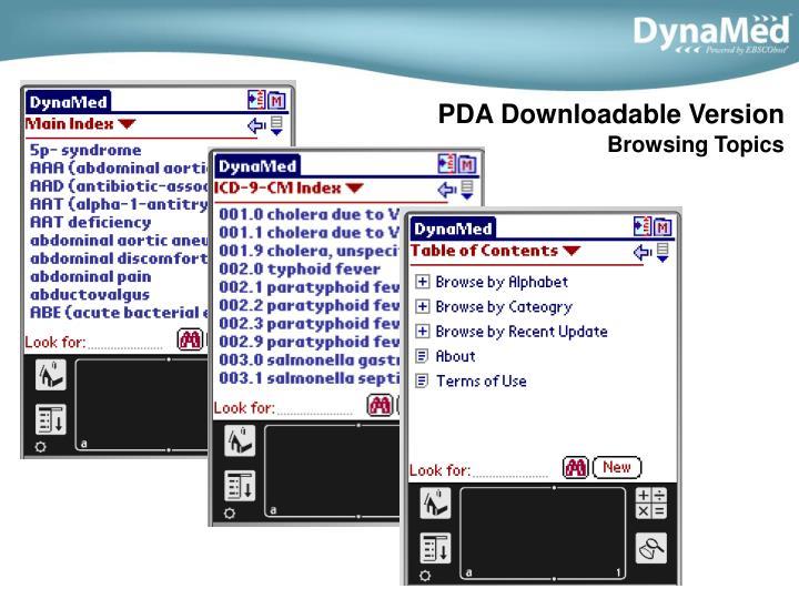 PDA Downloadable Version
