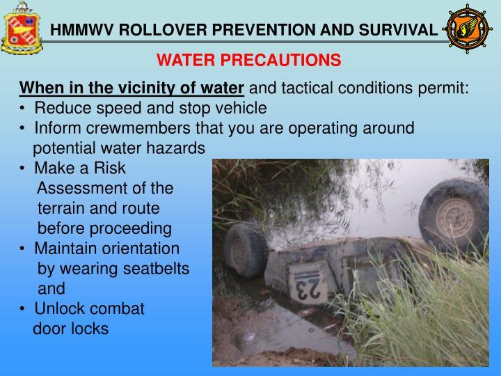 WATER PRECAUTIONS