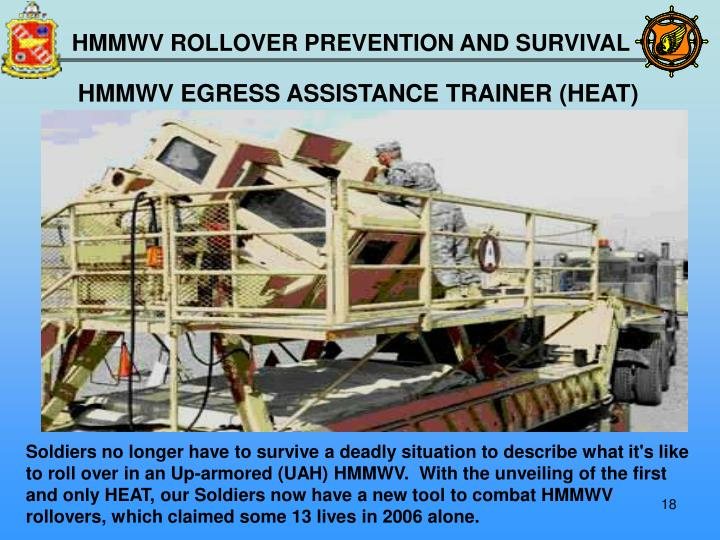 HMMWV EGRESS ASSISTANCE TRAINER (HEAT)