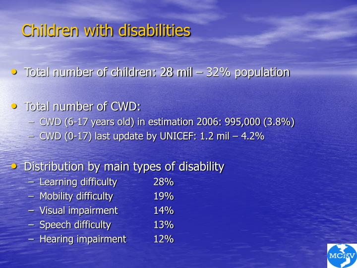 Children with disabilities