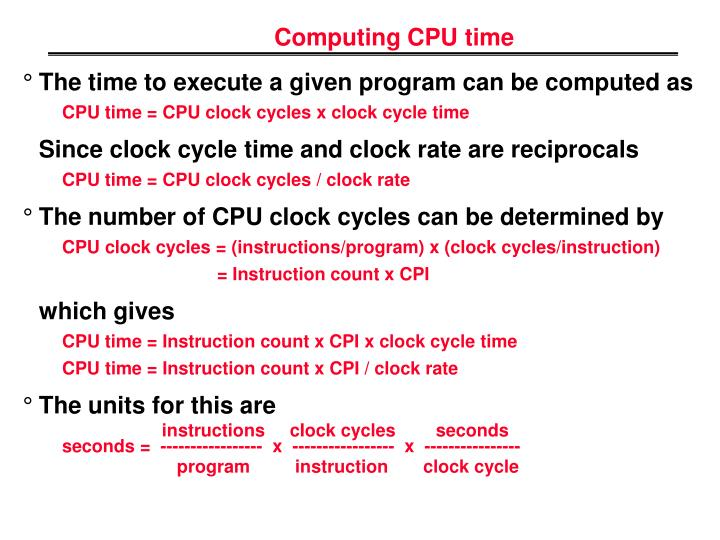 Computing CPU time