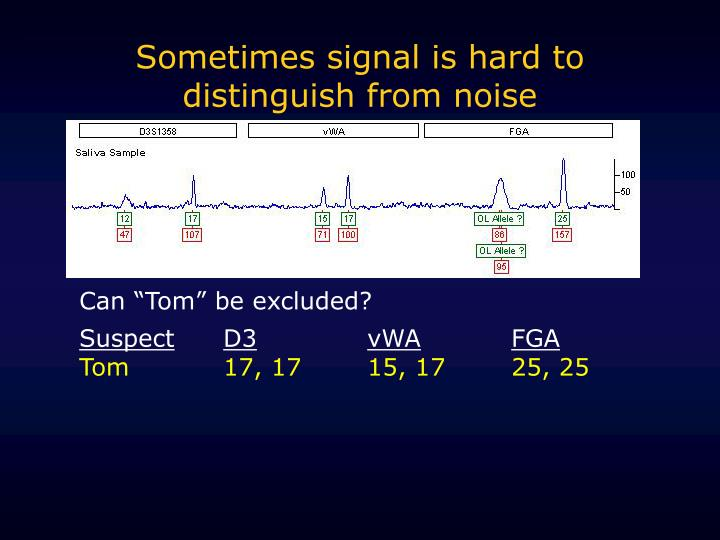 Sometimes signal is hard to distinguish from noise
