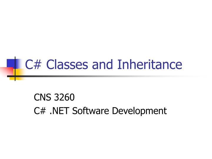 C classes and inheritance