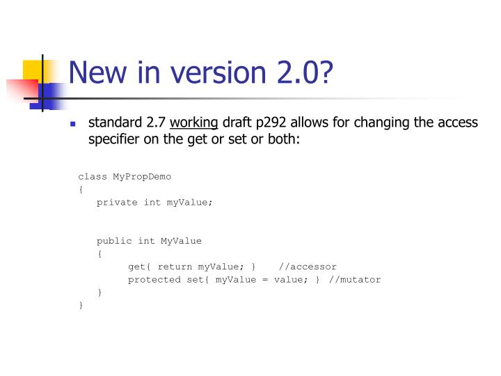 New in version 2.0?
