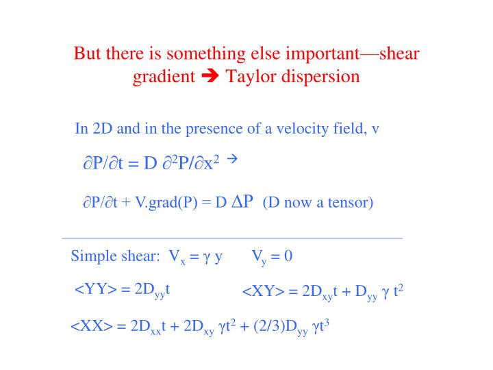 But there is something else important—shear gradient