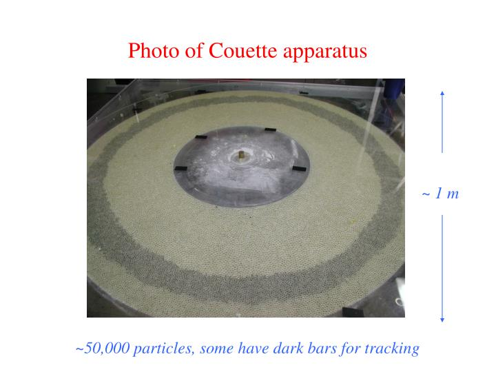 Photo of Couette apparatus