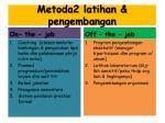 metoda2 latihan pengembangan