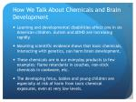 how we talk about chemicals and brain development