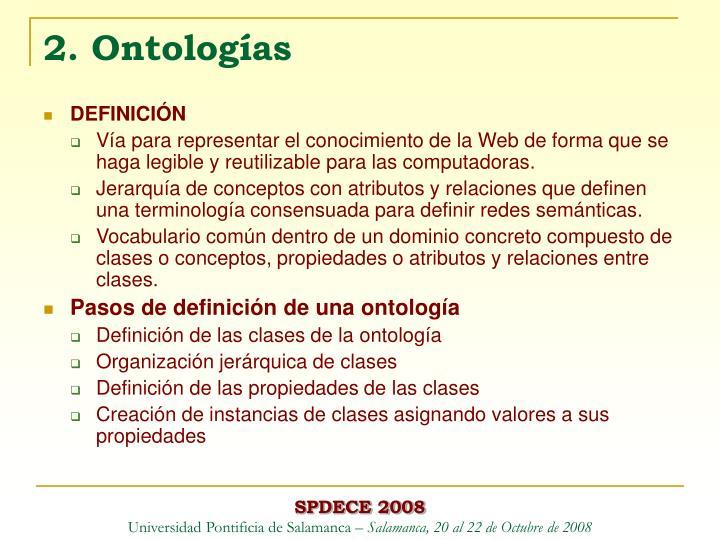 2. Ontologías