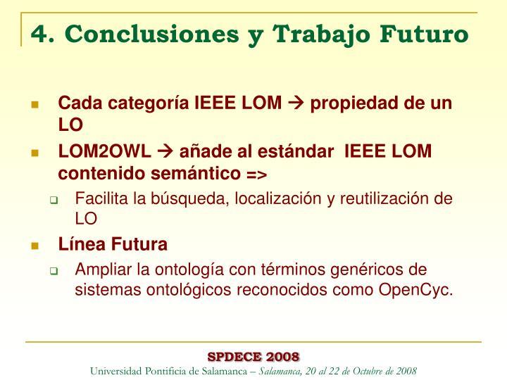4. Conclusiones y Trabajo Futuro