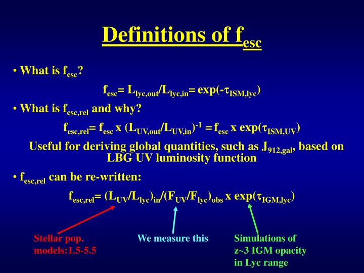 Definitions of f