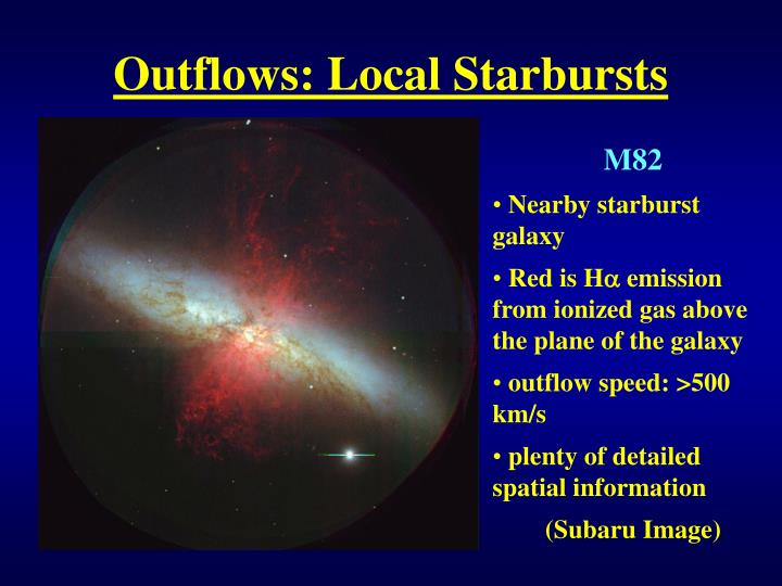 Outflows: Local Starbursts