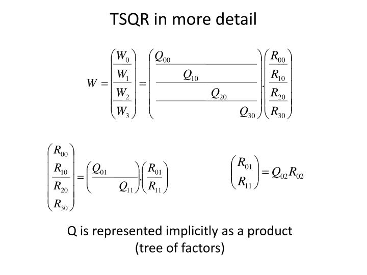 TSQR in more detail