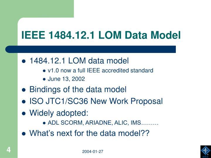 IEEE 1484.12.1 LOM Data Model