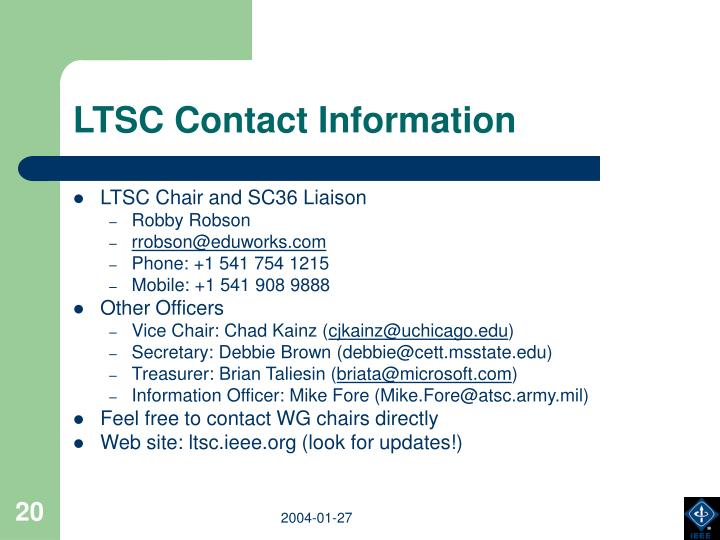 LTSC Contact Information