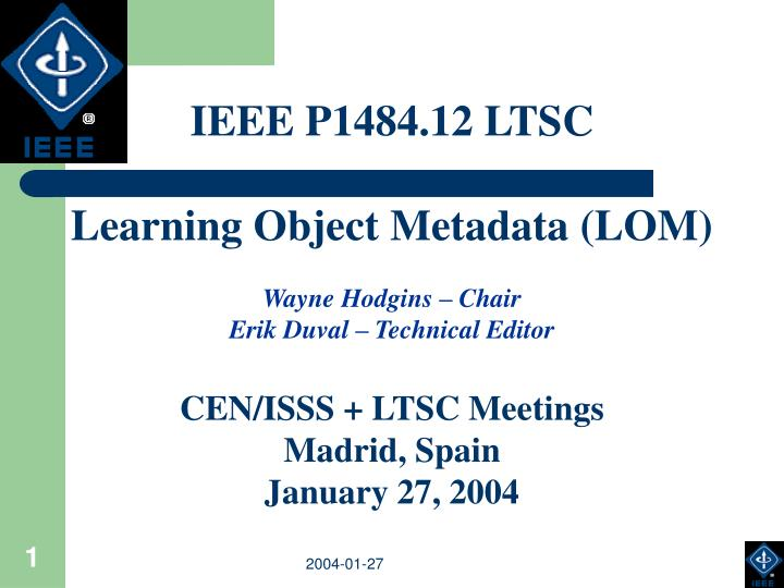 IEEE P1484.12 LTSC