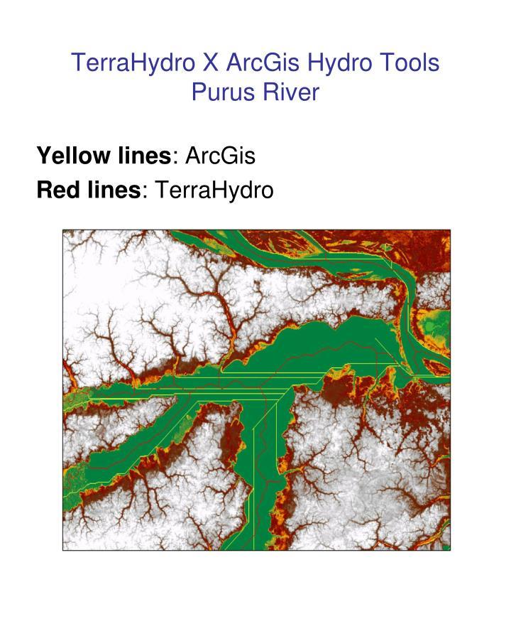 TerraHydro X ArcGis Hydro Tools