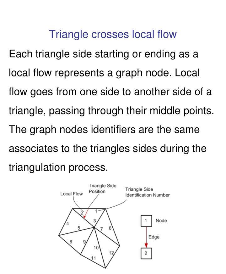 Triangle crosses local flow