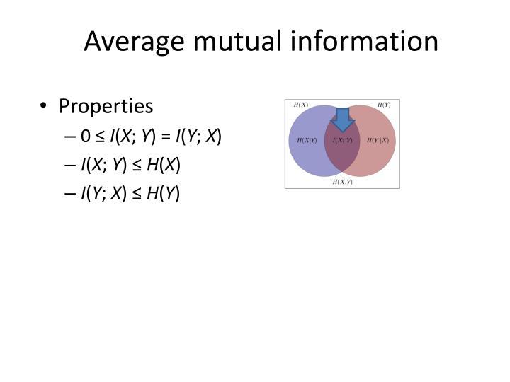 Average mutual information