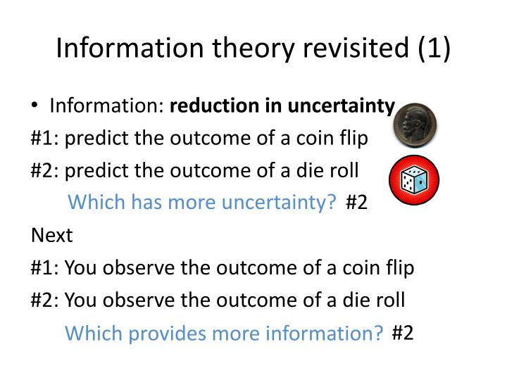 Information theory revisited (1)