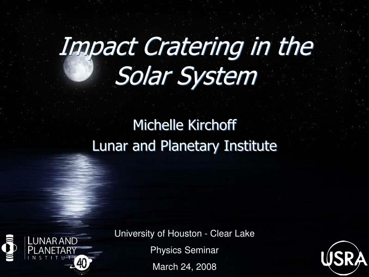 impact cratering in the solar system n.