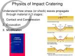 physics of impact cratering