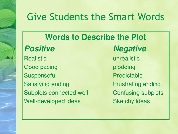 Give Students the Smart Words