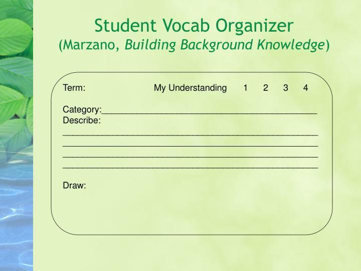 Student Vocab Organizer