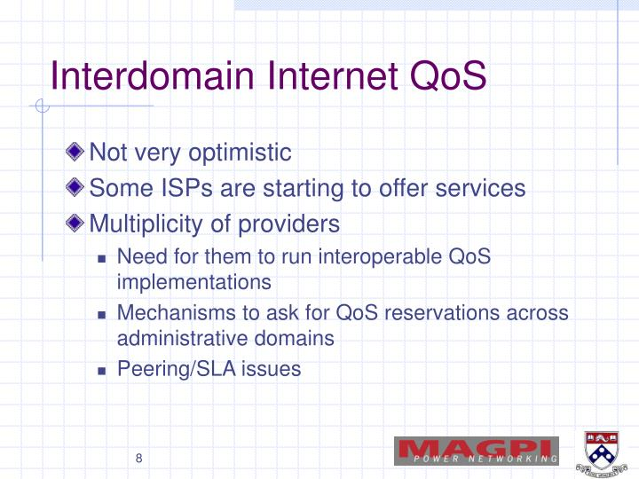 Interdomain Internet QoS