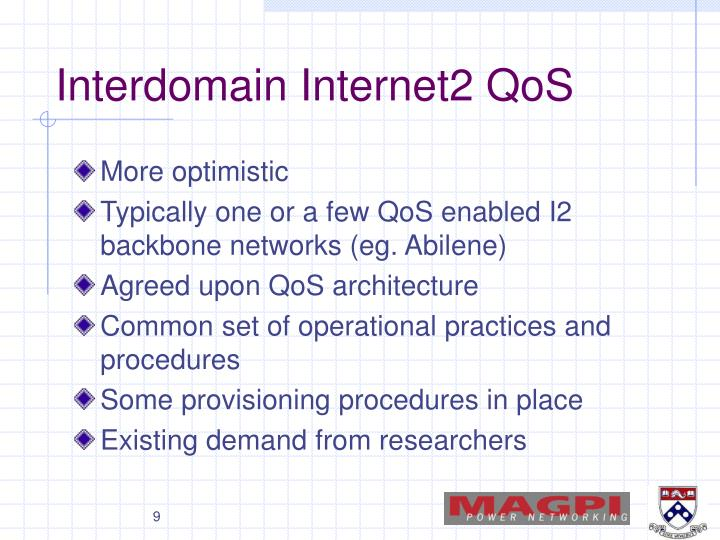 Interdomain Internet2 QoS
