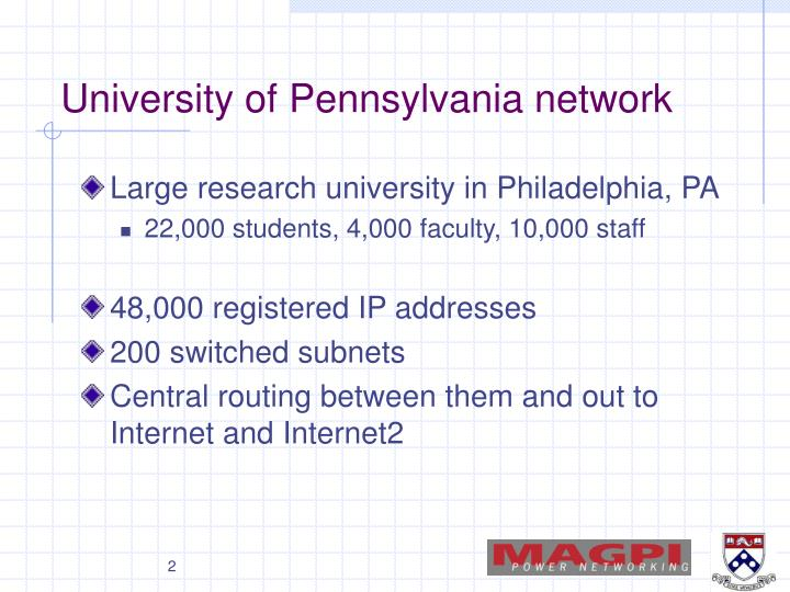 University of pennsylvania network