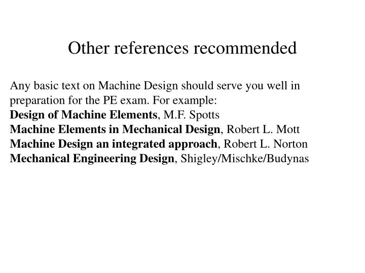 Other references recommended