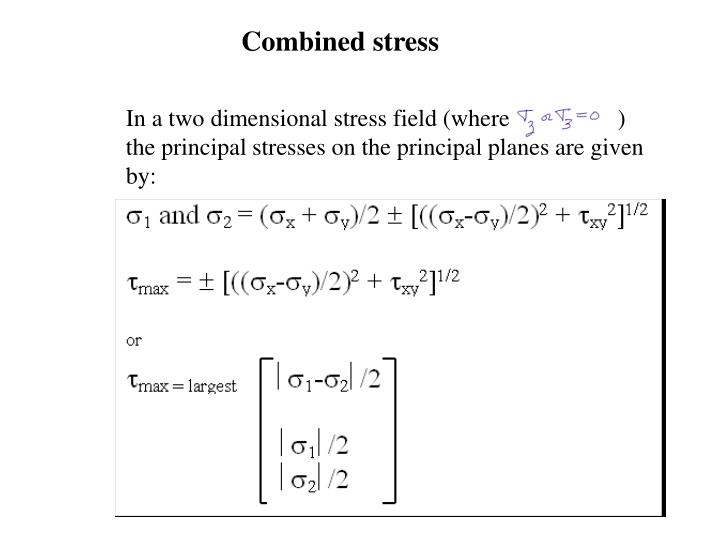 Combined stress
