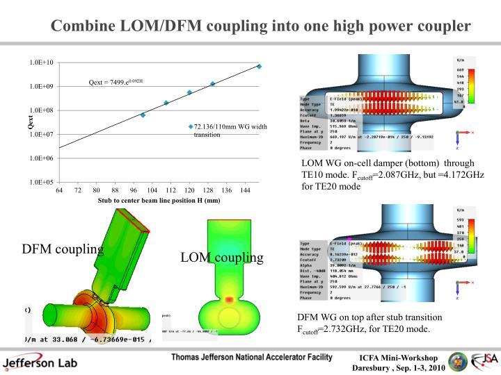 Combine LOM/DFM coupling into one high power coupler