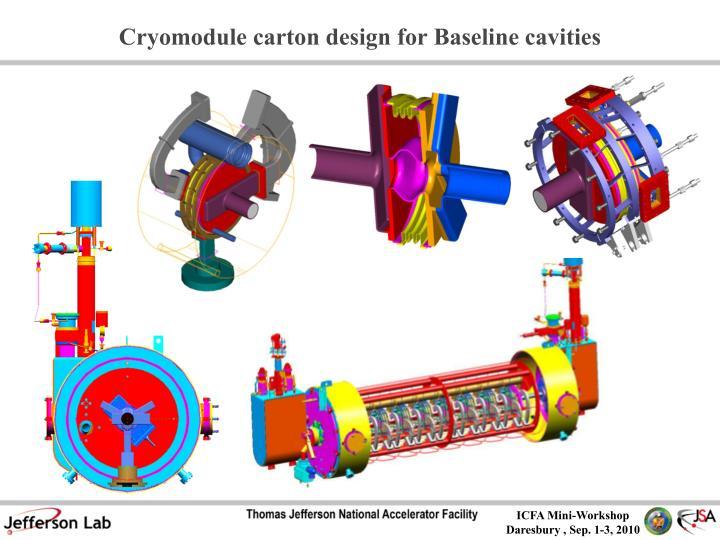 Cryomodule carton design for Baseline cavities
