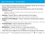 agile s terminology via kent beck