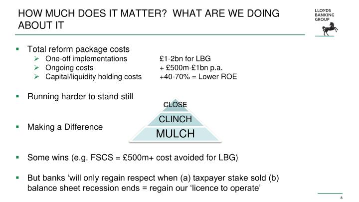 HOW MUCH DOES IT MATTER?  WHAT ARE WE DOING ABOUT IT