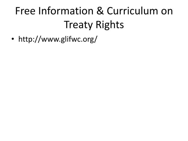 Free Information & Curriculum on Treaty Rights