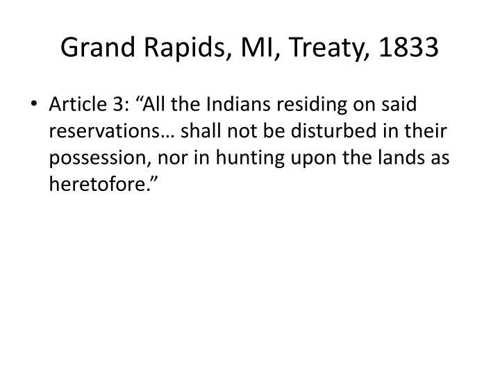 Grand Rapids, MI, Treaty, 1833