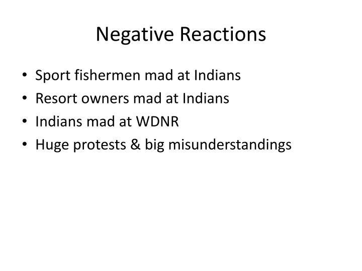 Negative Reactions