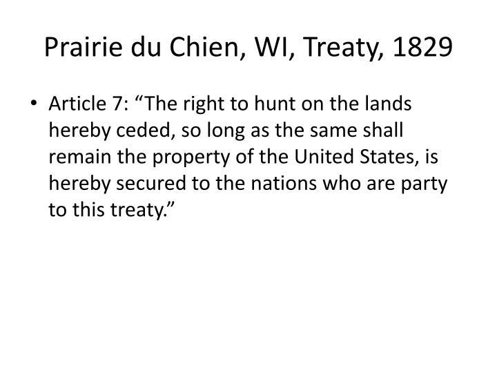 Prairie du Chien, WI, Treaty, 1829