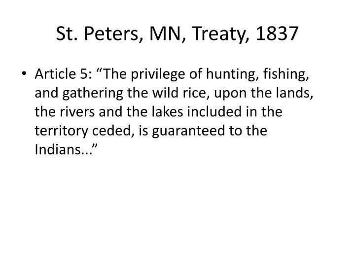 St. Peters, MN, Treaty, 1837