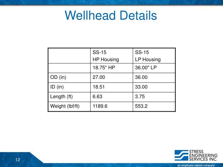 Wellhead Details