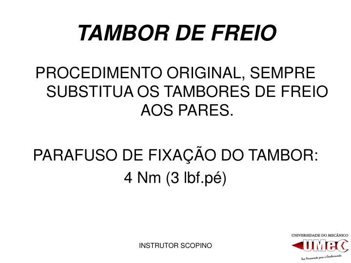 TAMBOR DE FREIO