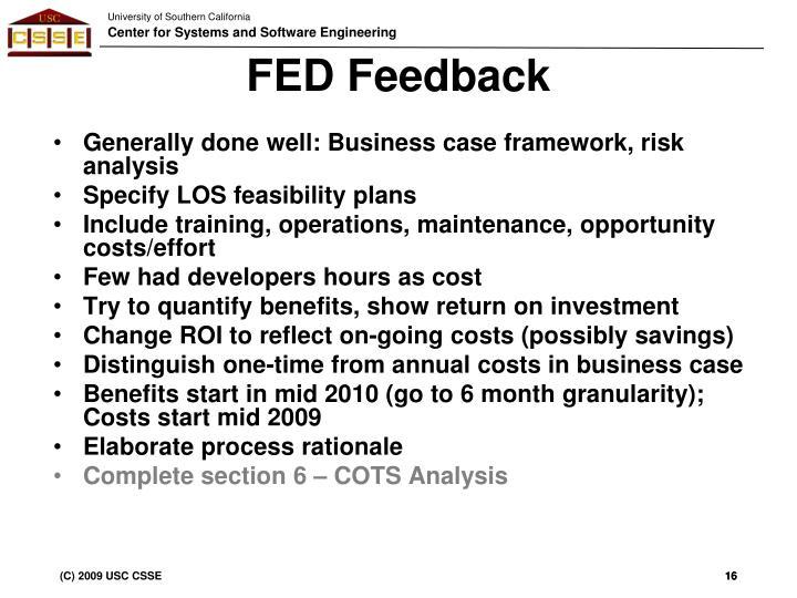 FED Feedback